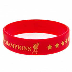Liverpool FC Champions Of Europe Silicone Wristband 1