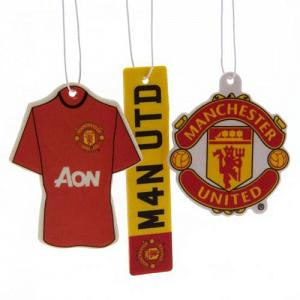 Manchester United FC Air Freshener - 3 Pack 1