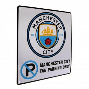 Manchester City FC No Parking Sign 1
