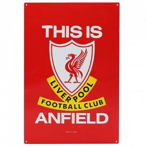 Liverpool FC TIA Large Metal Sign 1