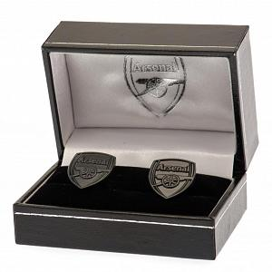 Arsenal FC Black IP Cufflinks 2