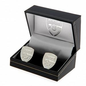 Arsenal FC Cufflinks - Crest - Silver Plated 2