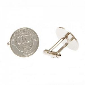 Manchester City FC Silver Plated Formed Cufflinks 2
