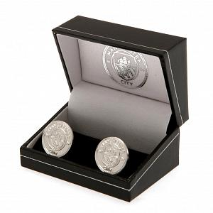 Manchester City FC Silver Plated Formed Cufflinks 1