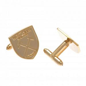 West Ham United FC Gold Plated Cufflinks 1