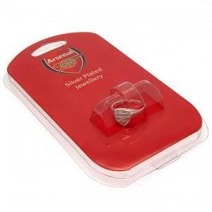 Arsenal FC Ring - Silver Plated - Size X 2