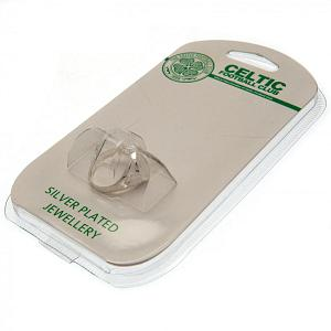 Celtic FC Ring - Silver Plated - Size X 2