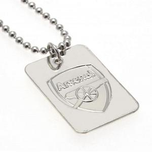 Arsenal FC Dog Tag & Chain - Silver Plated 1