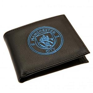 Manchester City FC Leather Wallet - Embroidered Crest 1