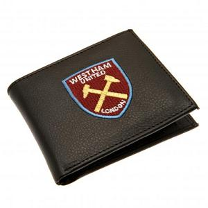 West Ham United FC Leather Wallet - Embroidered Crest 1