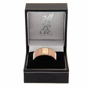 Liverpool FC Rose Gold Plated Ring Small 1