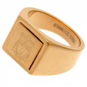Liverpool FC Gold Plated Signet Ring Medium 1