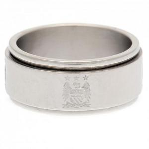 Manchester City FC Spinner Ring Small EC 1