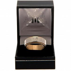 Newcastle United FC Bi Colour Spinner Ring X-Small 1