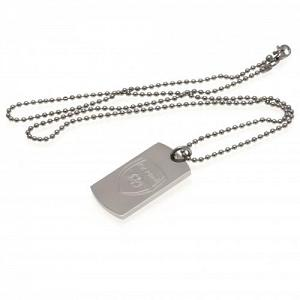 Arsenal FC Dog Tag & Chain - Engraved Crest 1