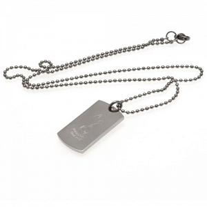 Tottenham Hotspur FC Dog Tag & Chain - Engraved Crest 1