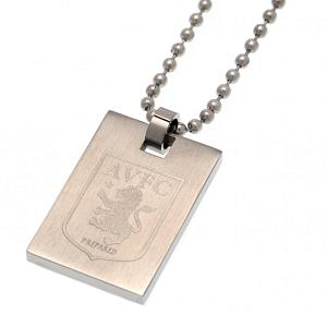 Aston Villa FC Dog Tag & Chain 1