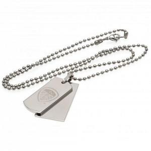 Leeds United FC Double Dog Tag & Chain 1