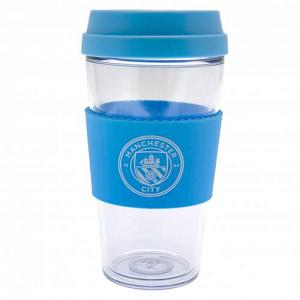 Manchester City FC Clear Grip Travel Mug 1
