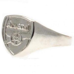 Arsenal FC Ring - Silver Plated - Size X 1