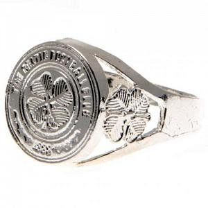 Celtic FC Ring - Silver Plated - Size X 1