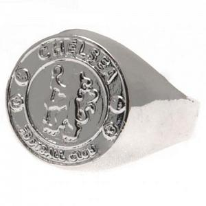 Chelsea FC Ring - Silver Plated - Size U 1