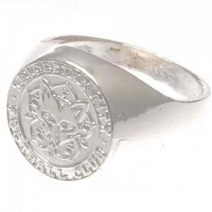 Leicester City Fc Ring Silver Plated Size U Official Football