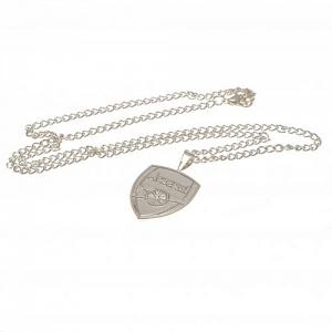 Arsenal FC Pendant & Chain - XL - Silver Plated 1