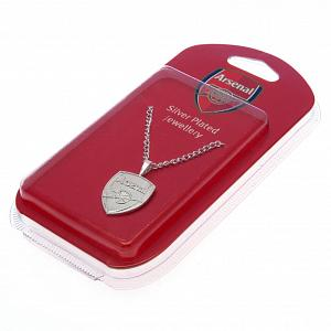 Arsenal FC Silver Plated Pendant & Chain XL 1
