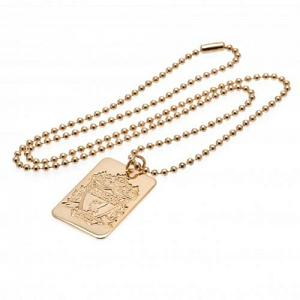 Liverpool FC Gold Plated Dog Tag & Chain 1