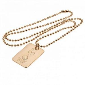 Tottenham Hotspur FC Dog Tag & Chain - Gold Plated 1