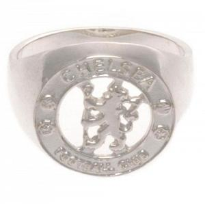 Chelsea FC Ring - Sterling Silver - Size R 1