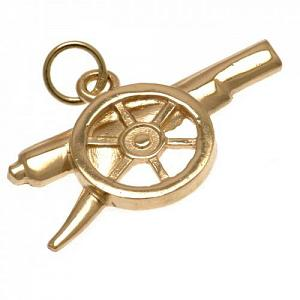 Arsenal FC 9ct Gold Pendant Cannon 1