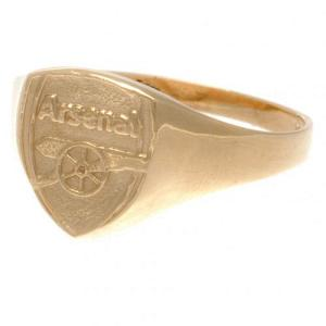 Arsenal FC 9ct Gold Crest Ring Large 1