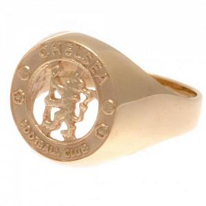 Chelsea FC 9ct Gold Crest Ring Small 1