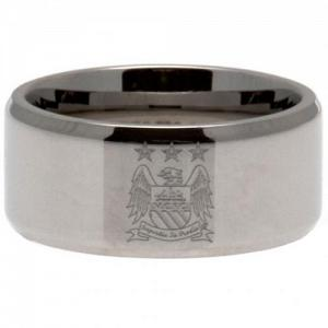 Manchester City FC Band Ring Medium EC 2
