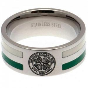 Celtic FC Ring - Colour Double Groove - Size X 1