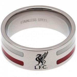Liverpool FC Ring - Colour Stripe - Size X 1