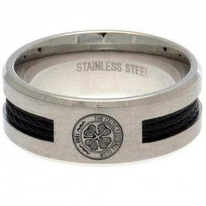 Celtic FC Ring - Black Inlay - Size R 1