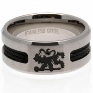 Chelsea FC Ring - Black Inlay - Size U 1