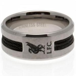 Liverpool FC Ring - Black Inlay - Size U 1
