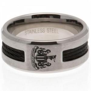Newcastle United FC Black Inlay Ring Small 2