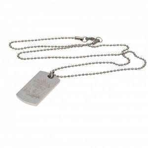 Liverpool FC Dog Tag & Chain - Engraved Crest 1