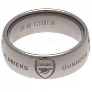 Arsenal FC Ring - Super Titanium - Size U 1
