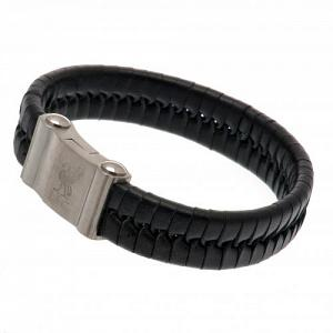 Liverpool FC Leather Bracelet - Single Plait 1
