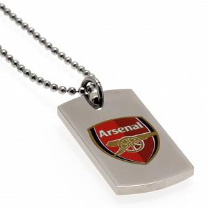 Arsenal FC Colour Crest Dog Tag & Chain 1