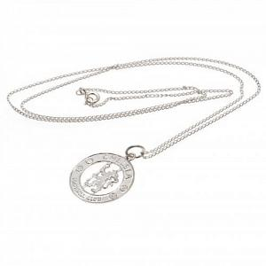 Chelsea FC Sterling Silver Pendant & Chain CR 1
