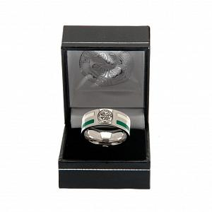 Celtic FC Ring - Colour Double Groove - Size X 2