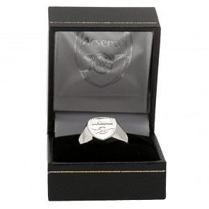 Arsenal FC Ring - Silver Plated - Size R 2