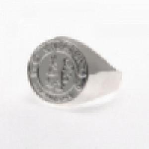 Chelsea FC Ring - Silver Plated - Size U 2